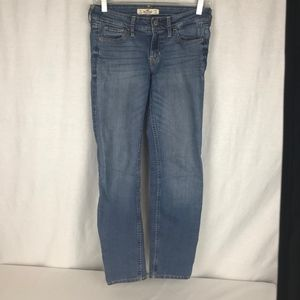 Hollister Womens 1S Straight Stretch Jeans 27x29.5